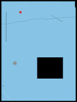 Poster: Black rectangle on blue background, by H. J. Art
