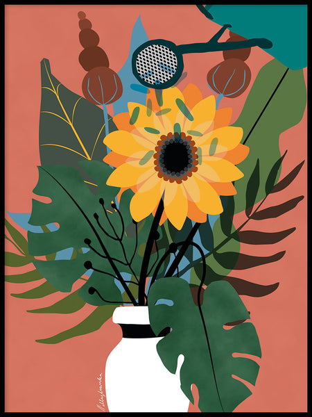 Poster: Vase of flowers, by Illustranka