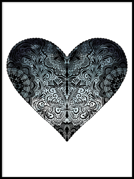 Poster: Blue Heart, by Sofie Rolfsdotter