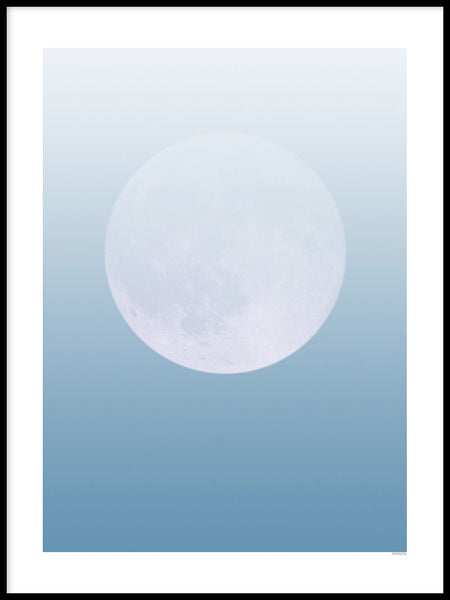 Poster: Blue moon, by mimono