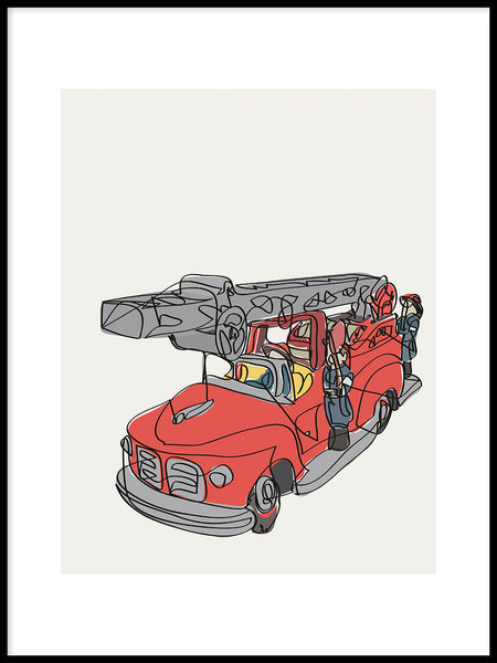 Poster: Fire truck, by LIWE