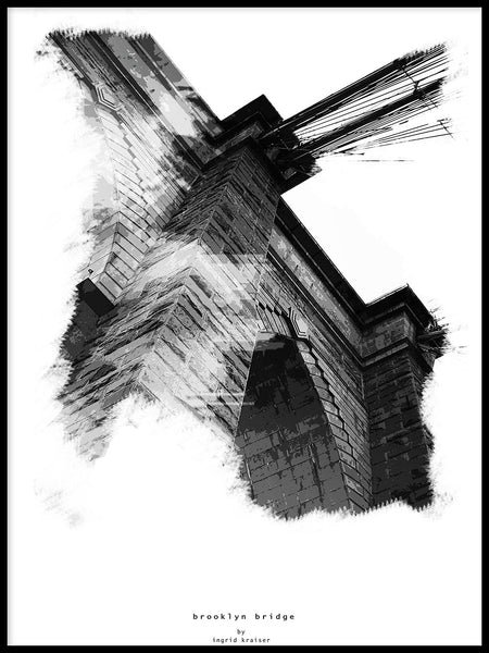 Poster: Brooklyn Bridge, by Ingrid Kraiser - ingrid art design