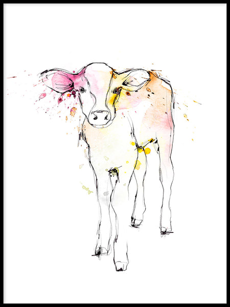 Poster: Calf, by Lotta Larsdotter