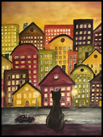 Poster: Cat City, by Lindblom of Sweden