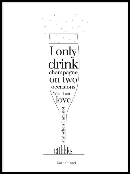 Poster: Champagne, by GaboDesign