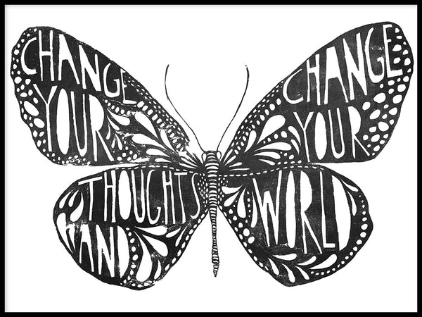 Poster: Change your thoughts, by Sofie Rolfsdotter