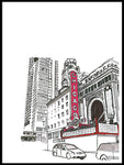 Poster: Chicago Theater, by Omer Rosenbaum