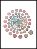 Poster: Circles pink, by Lindblom of Sweden