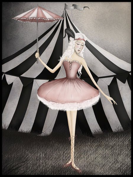 Poster: Circus, Ballerina, by Majali Design & Illustration