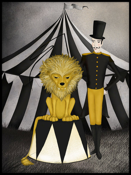Poster: Circus, Lion, by Majali Design & Illustration