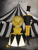 Poster: Circus, Lion, av Majali Design & Illustration