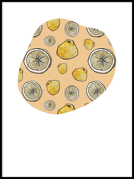Poster: Circle of lemons, by Fia-Maria