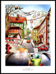 Poster: City Life, by Ekkoform illustrations