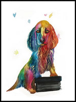 Poster: Cocker spaniel in watercolor, by Lindblom of Sweden