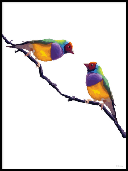 Poster: Colorful Birds #1, by PIEL Design
