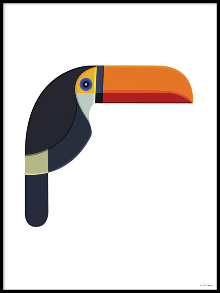Poster: Colorful Birds #10, av Discontinued products