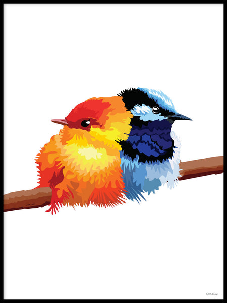 Poster: Colorful Birds #16, by PIEL Design