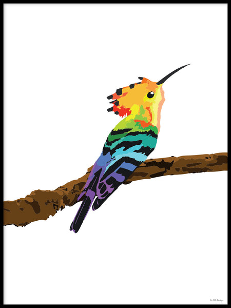 Poster: Colorful Birds #3, by PIEL Design