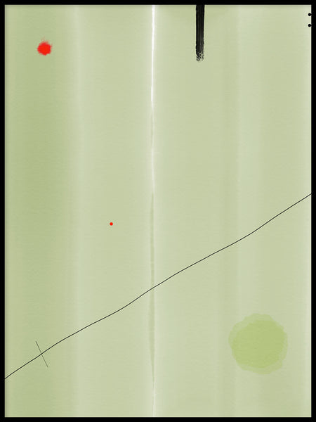 Poster: Composition with green and red, by H. J. Art