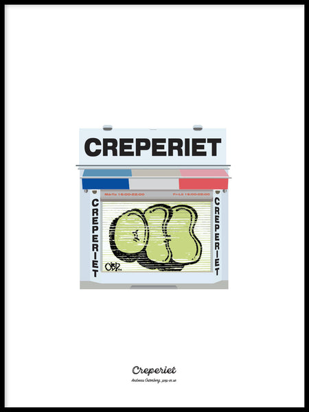 Poster: Creperiet, by Pop-in Local graphics