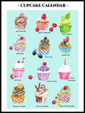 Poster: Cupcake Calendar, by Annas Design & Illustration