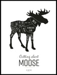 Poster: Cutting chart, Moose, av Art & Design by Sara