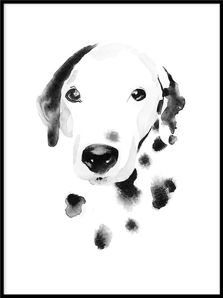 Poster: Dalmatian, by Cora konst & illustration