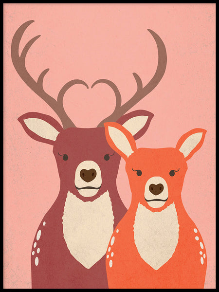 Poster: Dear Deer, by Kort & Gott