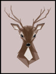 Poster: Deer Pink, by ANNABOYE