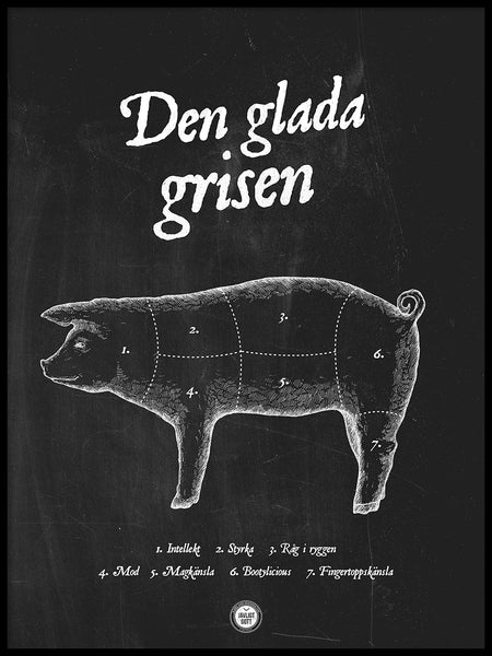 Poster: Den glada grisen, by Discontinued products