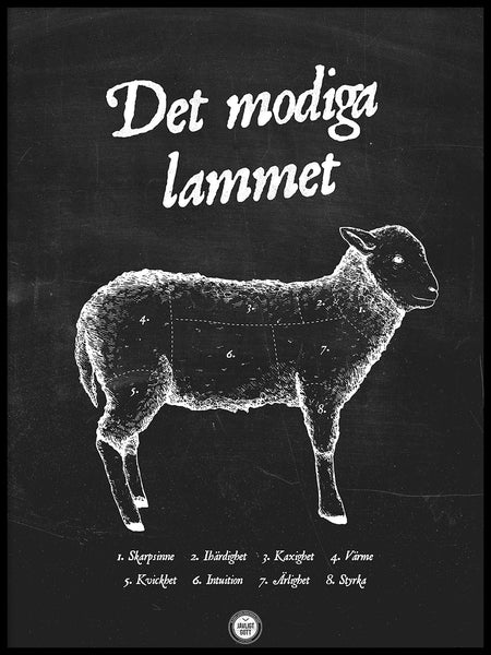 Poster: The brave lamb, by Owl Streets