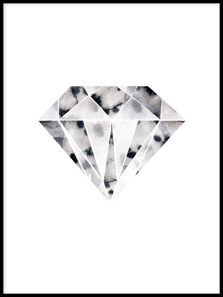 Poster: Diamond, by Lotta Larsdotter