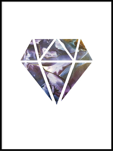 Poster: Diamond, night, by LIWE