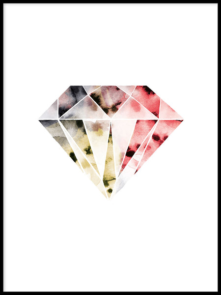 Poster: Diamond Pink, by Lotta Larsdotter