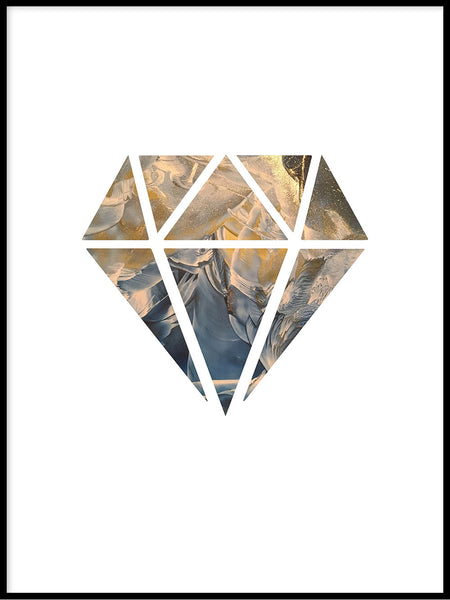 Poster: Diamond, sunrise, by LIWE