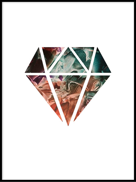 Poster: Diamond, sunset, by LIWE