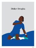 Poster: Didier Drogba, by Tim Hansson