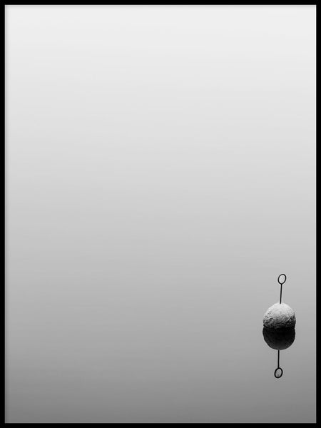 Poster: Fog over the bay I, by Nils Levin