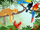 Poster: Jungle animals, by Linda Forsberg