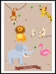 Poster: Animals in Africa, by mimono