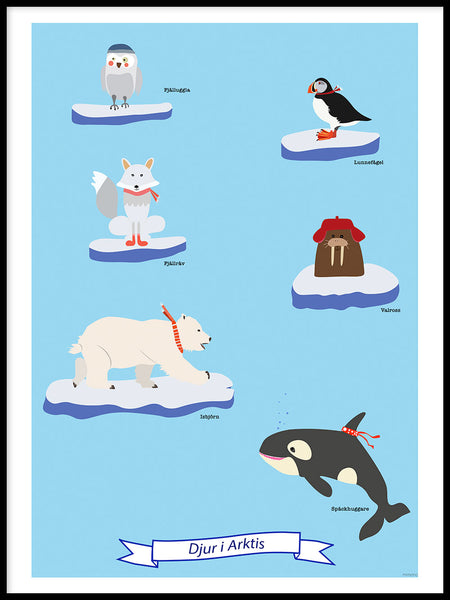 Poster: Animals in the Arctic, by mimono