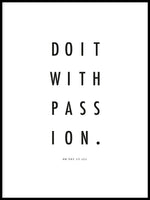 Poster: Do it with passion, by Discontinued products