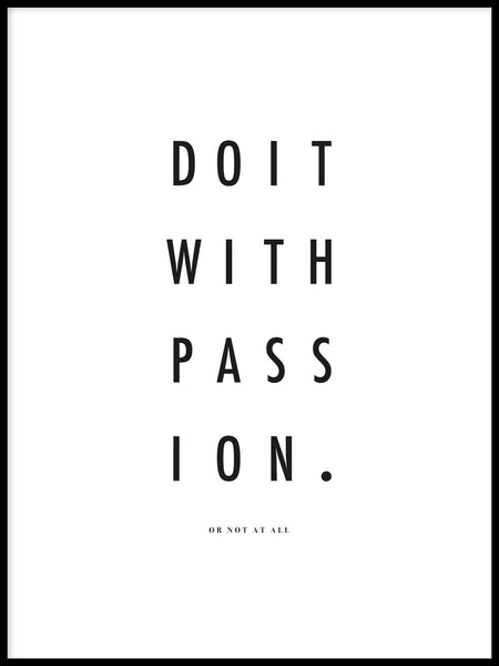 Poster: Do it with passion, by By Vogt