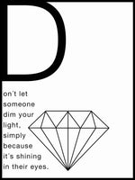 Poster: Don't dim your light, by Anna Mendivil / Gypsysoul