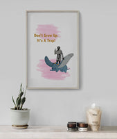 Poster: Don't grow up!, by Marievictoria Design