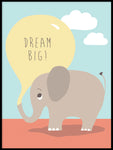 Poster: Dream big, by Kort & Gott