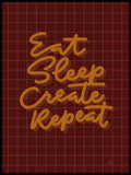 Poster: Eat Sleep Create Repeat, by Fia Lotta Jansson Design