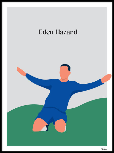 Poster: Eden Hazard, by Tim Hansson