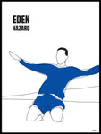 Poster: Eden Hazard, outline, by Tim Hansson