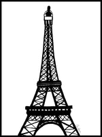 Poster: Eiffel tower, by Elina Dahl